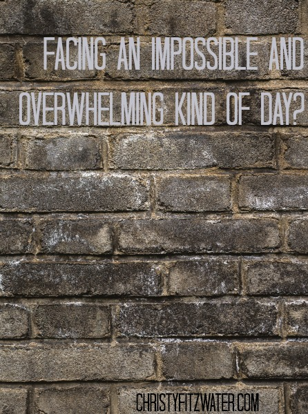 Facing An Impossible And Overwhelming Kind of Day?  -christyfitzwater.com