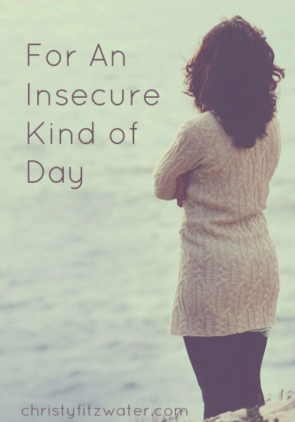 For An Insecure Kind of Day  -christyfitzwater.com