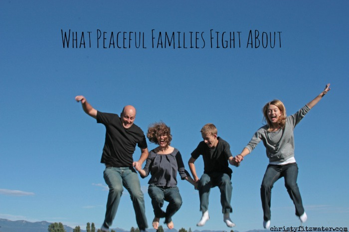 What peaceful families fight about.  -christyfitzwater.com