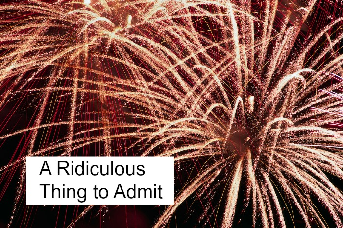 A ridiculous thing to admit right before your great success. -christyfitzwater.com