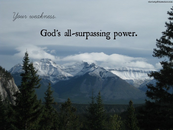 God wants to use your physical ailments to show the world something.  -christyfitzwater.com