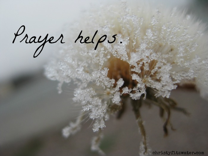 Does your prayer for people really make a difference?  -christyfitzwater.com