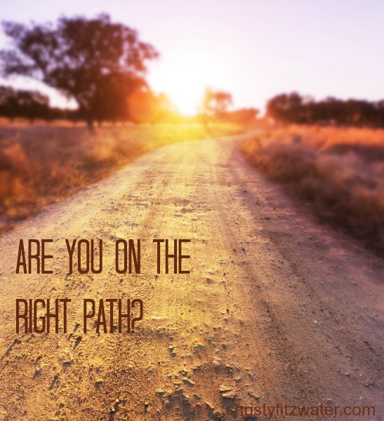 Are You on The Right Path?  -christyfitzwater.com