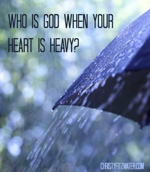 Who Is God When Your Heart Is Heavy? -christyfitzwater.com
