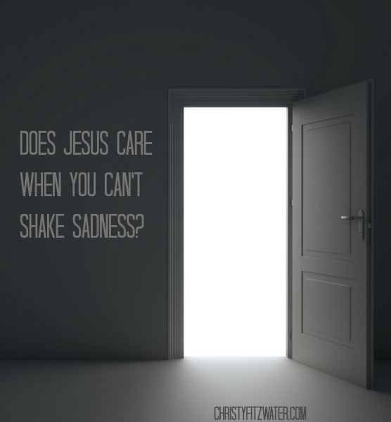 Does Jesus Care When You Can't Shake Sadness?  -christyfitzwater.com