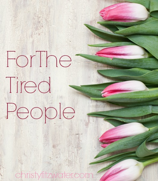 For The Tired, Not-Gonna-Make-It People -christyfitzwater.com