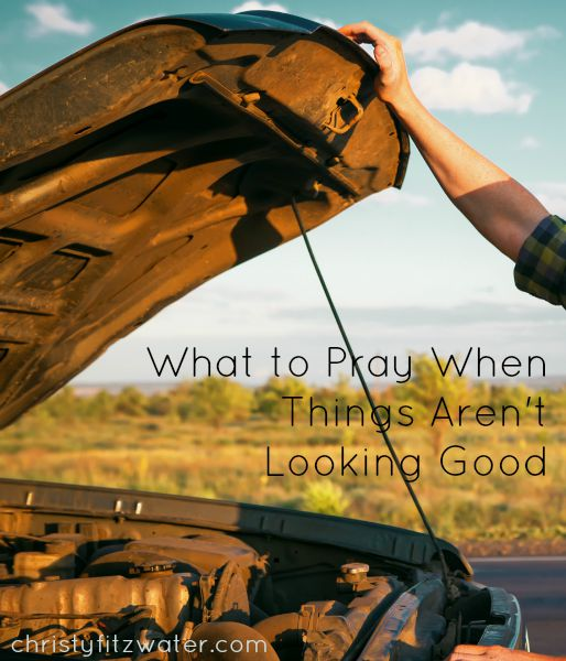 What to Pray When Things Aren't Looking Good -christyfitzwater.com