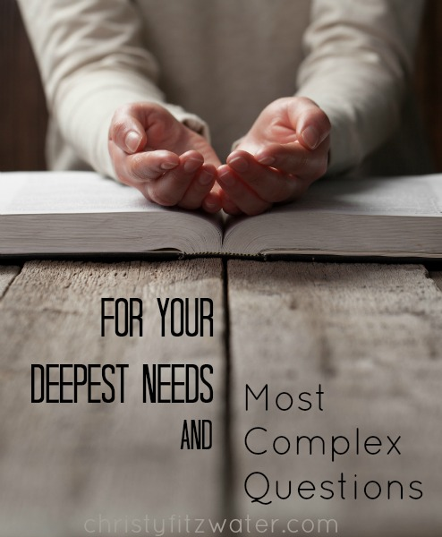 For Your Deepest Needs And Most Complex Questions -christyfitzwater.com