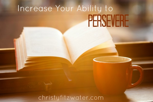 Increase Your Ability to Persevere  -christyfitzwater.com