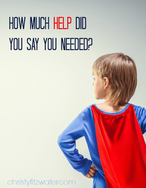 How Much Help Did You Say You Needed? -christyfitzwater.com