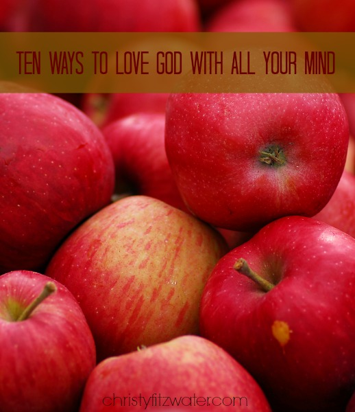 Ten Ways to Love God with All Your Mind -christyfitzwater.com