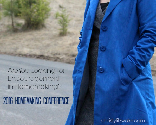 Are You Looking for Encouragement in Homemaking? -christyfitzwater.com