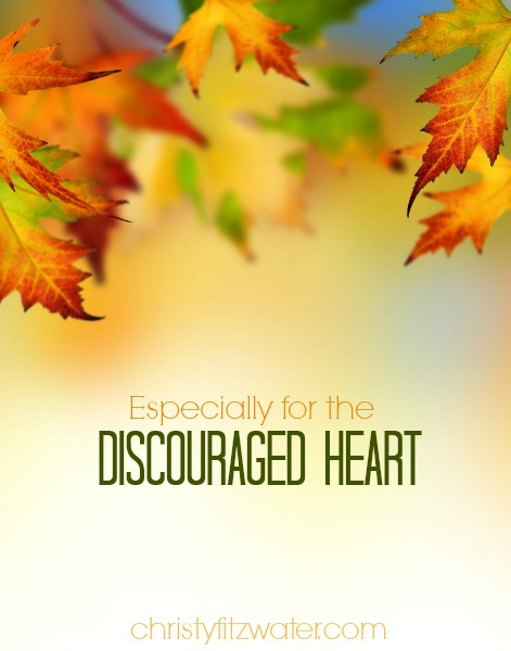 Especially for the Discouraged Heart -christyfitzwater.com