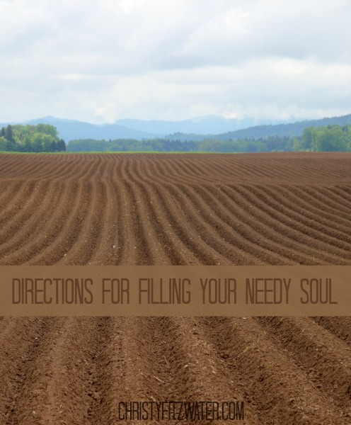 Directions for Filling Your Needy Soul -christyfitzwater.com