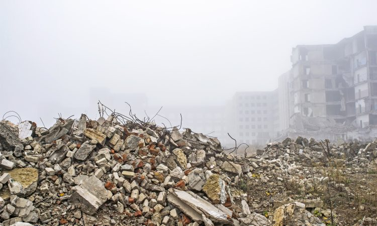 Walking through the Rubble of 2020. -christyfitzwater.com